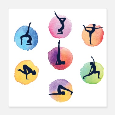 Yoga yoga positions - The Most Important Yoga Poses - Poster 16x16