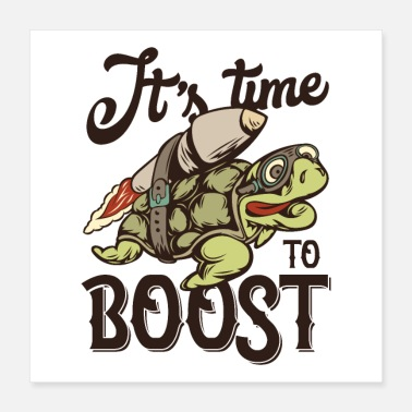 Karate Its Time to BOOST Turtle Rocket - Poster 16x16