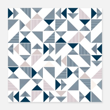 Geometric Abstract Triangles Geometric Pattern - Poster