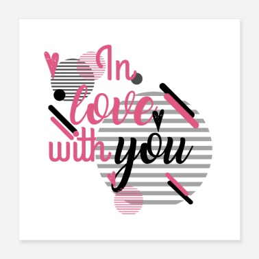 Love With Heart in Love With YOu - Poster 16x16
