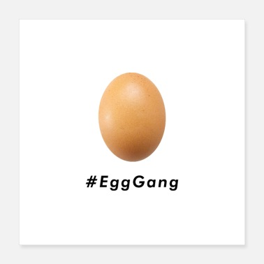 Gang World Record Egg Gang Hashtag - Poster 16x16