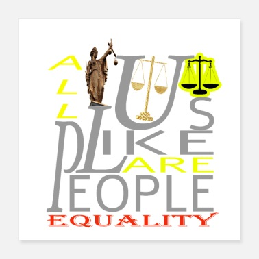 Human Rights Equality Shirt - Poster