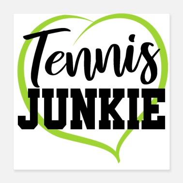 Tennis Player Tennis Love Ball Shirt Gift Tennis Player Coach - Poster