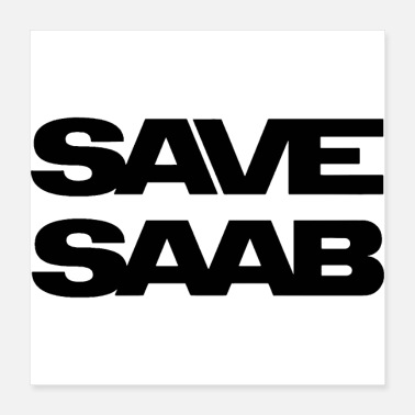 Automobile Saab logo products - Poster 16x16