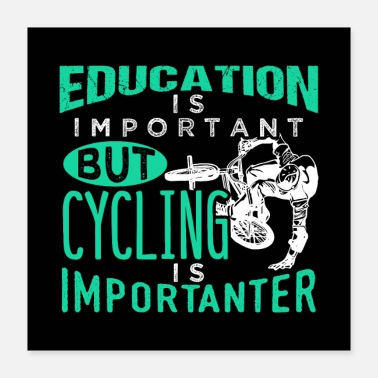 Cycling Education Is Important But Cycling Is Importanter - Poster 16x16