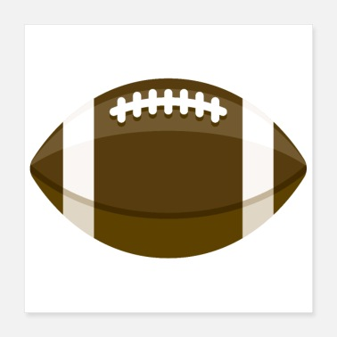 American Football Football - Poster 16x16