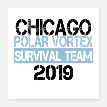 Chicago CHICAGO Polar Vortex Survivor 2019 BK - Poster