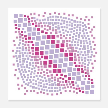 Violet abstract violet water mosaic - Poster 16x16