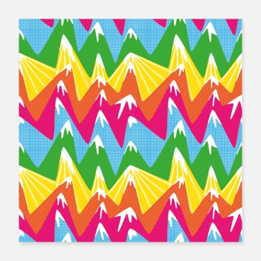 Color Colorful peaks - Poster 16x16