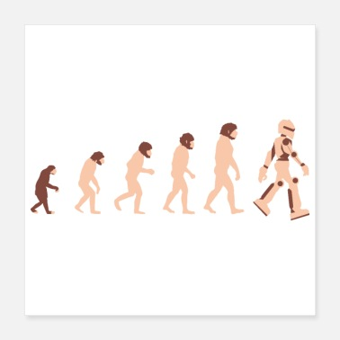 Evolution Theory of Evolution Robot Future - Gift Idea - Poster 16x16
