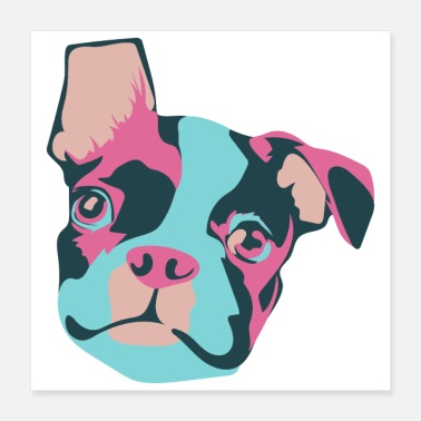Boston Favorite Dogs Boston Terrier - Gift Idea - Poster 16x16