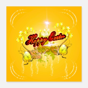 Easter Bunny Happy easter, easter design - Poster 16x16