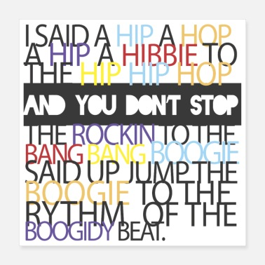 Rappers Rapper s Delight Sugarhill Gang - Poster