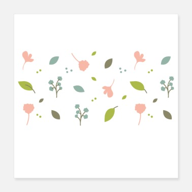 Spring Leaves Nature - Poster 16x16