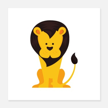 Zoo Cute lion design - Poster 16x16