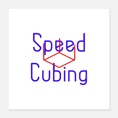Isometric Speed Cubing Algorithm - Poster 16x16