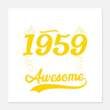 Vintage Vintage 1959 60th Birthday - Poster 16x16