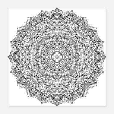 Ornamental Ornament mandala - Poster