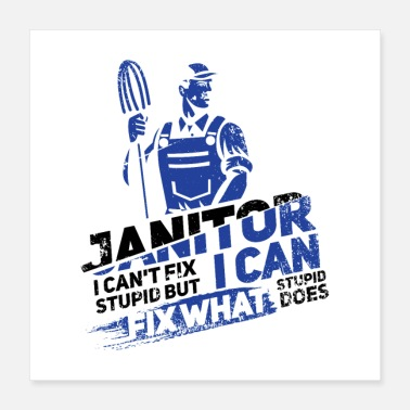 Career Janitor I Can't Fix Stupid II Gift - Poster