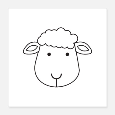 Cute sheep - Poster 16x16