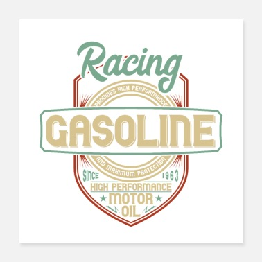 Motorcycle Racing Gasoline - Poster