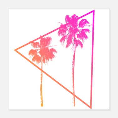 Neon Neon Palm Trees - Poster 16x16