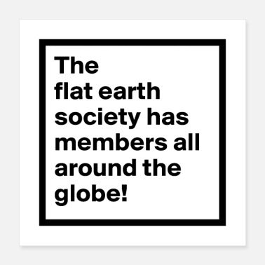Flat Rate flat earth merchandise - Poster 16x16