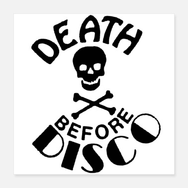 Disco DEATH BEFORE DISCO - Poster 16x16