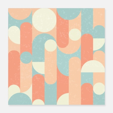 Modern Abstract Modern Geometric Pastel - Poster 16x16