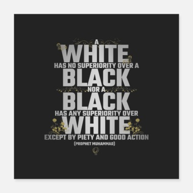 Equalizer Black White Equality Silver - Poster 16x16