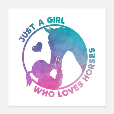 Girls Just A Girl Who Love Horses Gift - Poster