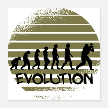 Camouflage Paintball Evolution T-Shirt - Poster 16x16