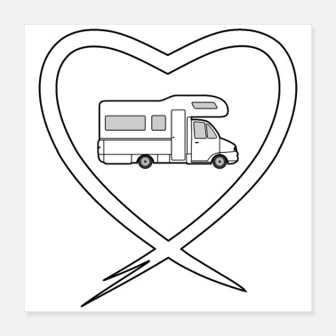 Campground Love Camping white - Poster 16x16