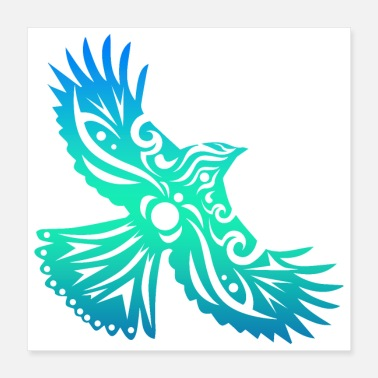 Mythological Maori Bird Flying Hei Manu - Gift Idea - Poster 16x16