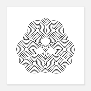 Visual Illusion Mandala Yoga Optical Illusion Zen Paradoxon Gift - Poster