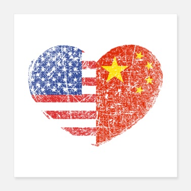 Immigration USA China Heart Gift - Poster