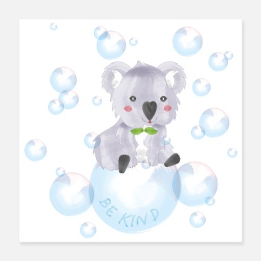 Eucalyptus Koala – be kind - Poster 16x16