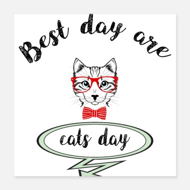 Day Of The Week cats day - Poster 16x16