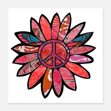 Bliss Pink Bliss Peace Flower - Poster