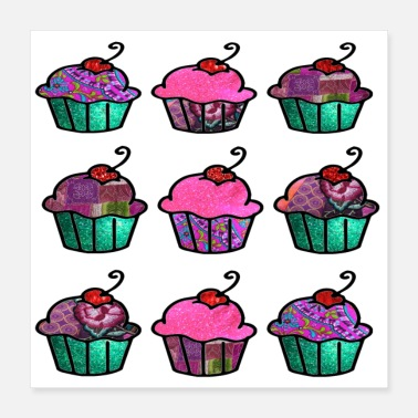 Cupcakes Sweet and Pink - Poster