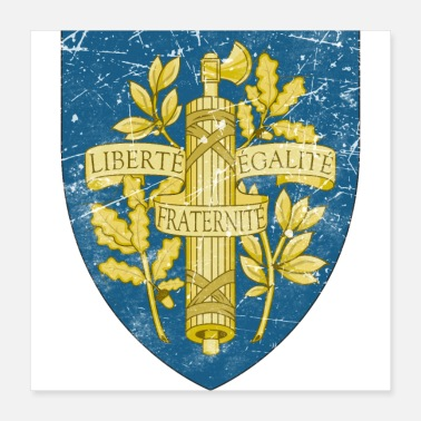 Coat France Vintage Coat Of Arms - Poster 16x16