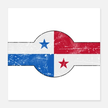 Airforce Panama roundel flag air force style - Poster