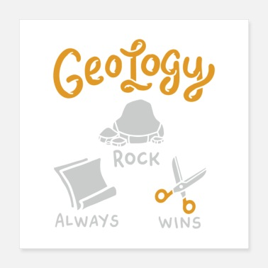 Fossil Rock Always Wins Geology Rocks Gift - Poster