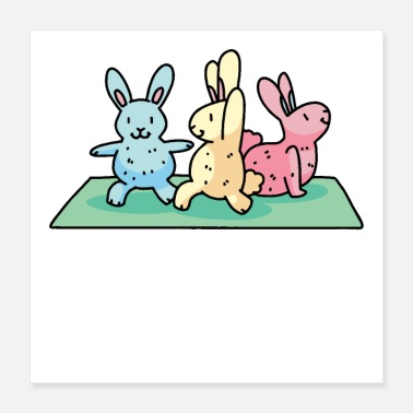 Funny Rabbit Yoga Rabbit - Poster