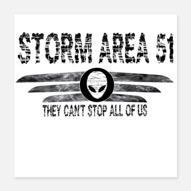 Area 51 Storm Area 51 T-Shirt - Poster