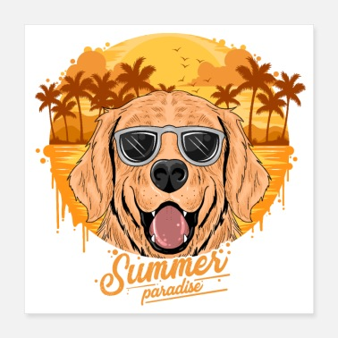 Coconut Pngtree summer golden dog with coconut 4825772 - Poster 16x16