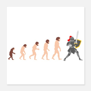 Knights Of St John Knight Human Evolution Funny Design Gift Idea - Poster 16x16