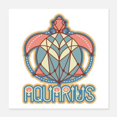 Astrology Aquarius Astrology Birth Sign - Poster 16x16