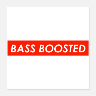 Monitoring Bass Boosted Logo Limited Edition Design Unisex Te - Poster
