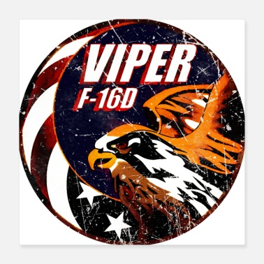 Usaf-patch F-16 Viper Figher Plane - Poster